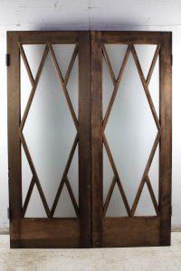 diamond glass doors