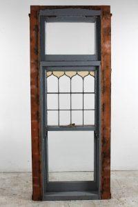 leadlight sash window