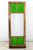 green glass window