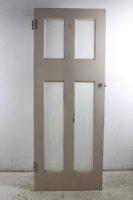 old glass door